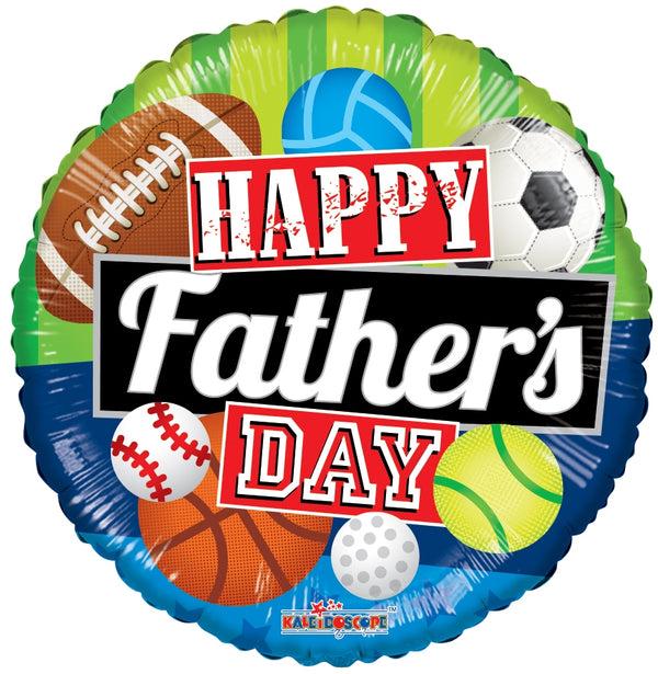 "18"" Happy Father's Day Sports"