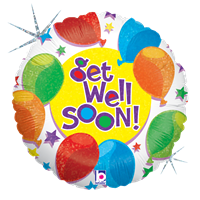 "18"" Balloons & Stars Get Well Balloon"