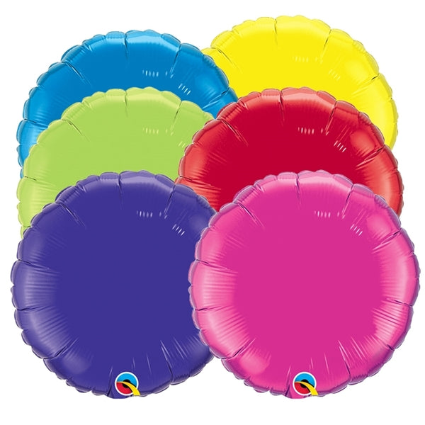 "4"" - 18"" Qualatex Round Foil Balloons"