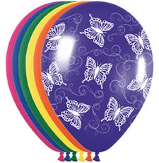 "11"" Butterfly Flight Balloon Assortment"