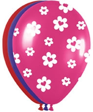 "11"" Heart Flowers Balloon Assortment"