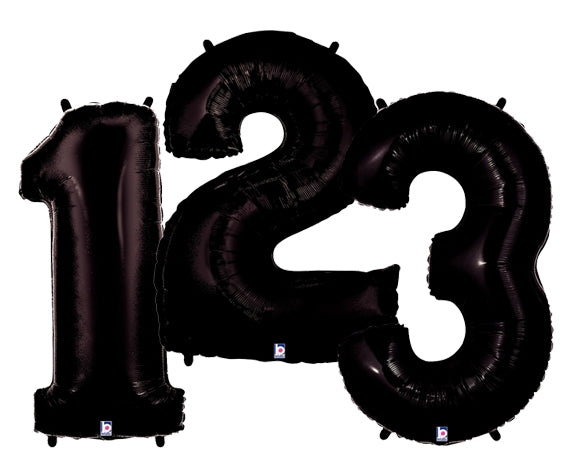 "40"" Black Number Balloons"