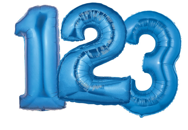"40"" Blue Number Balloons"