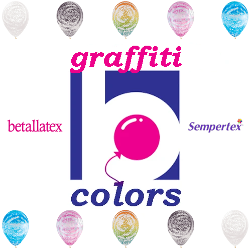 Betallatex Graffiti Latex Balloons