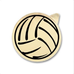 "2"" Foil Volleyball Sticker 50 ct"