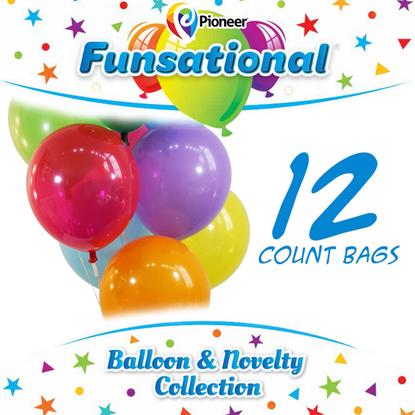 "12"" Funsational Latex Balloons 12 ct."