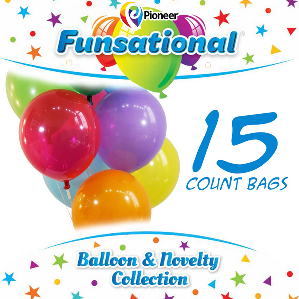 "12"" Funsational Latex Balloons 15 ct."