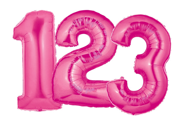 Hot Pink Number Balloons