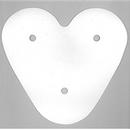 "Paper Disc Mum Backer 6"" Triple Heart White"