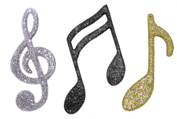 Glitter Music Notes
