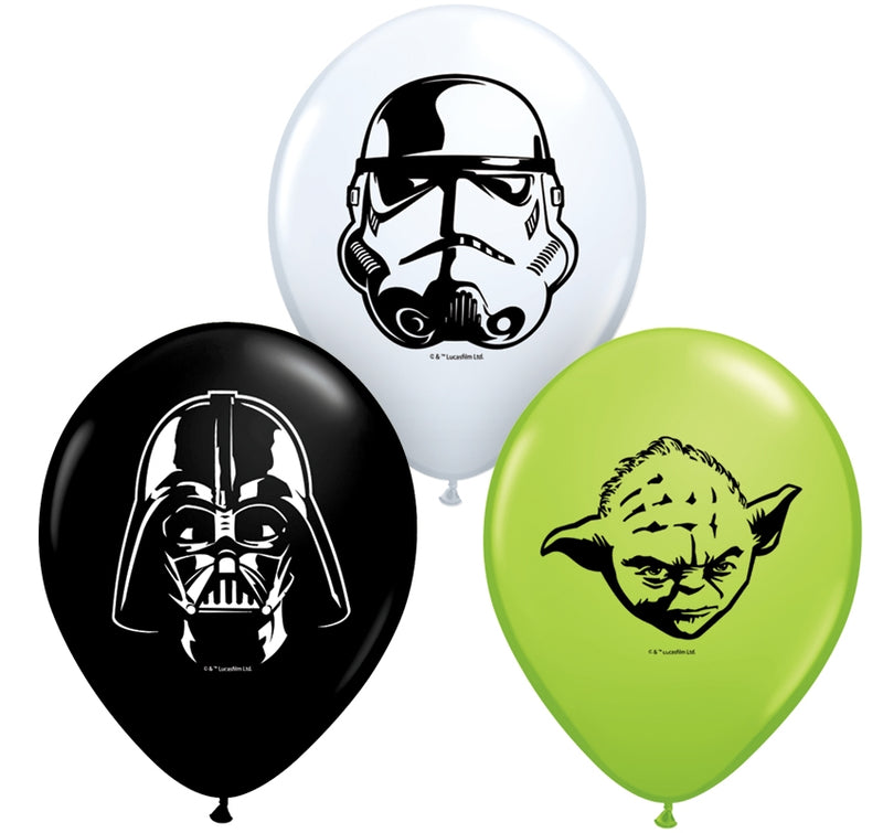 "5"" Star Wars Faces Assortment Latex Balloons"