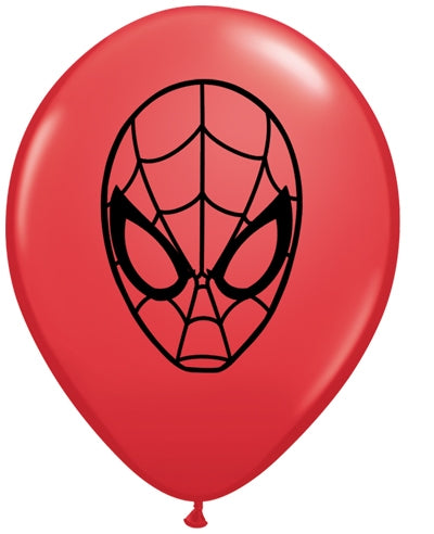 "5"" Spider Man Face Latex Balloons"