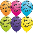 "11"" Summer Fun & Sunglasses Latex Balloons"