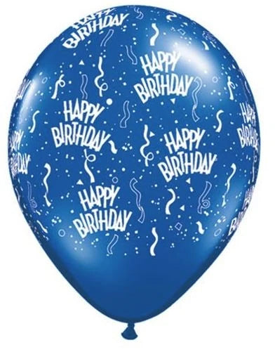 "11"" Birthday-A-Round Latex Balloons"