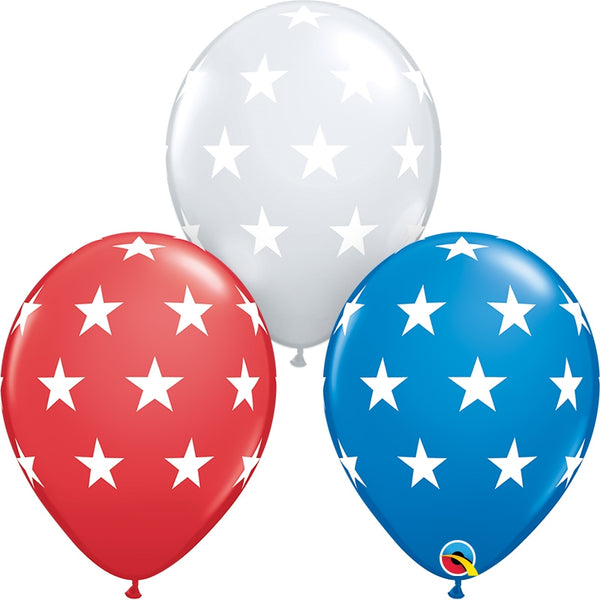 "11"" Big Stars Latex Balloons"
