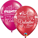 "11"" Sweet Valentine's Messages Latex Balloons"