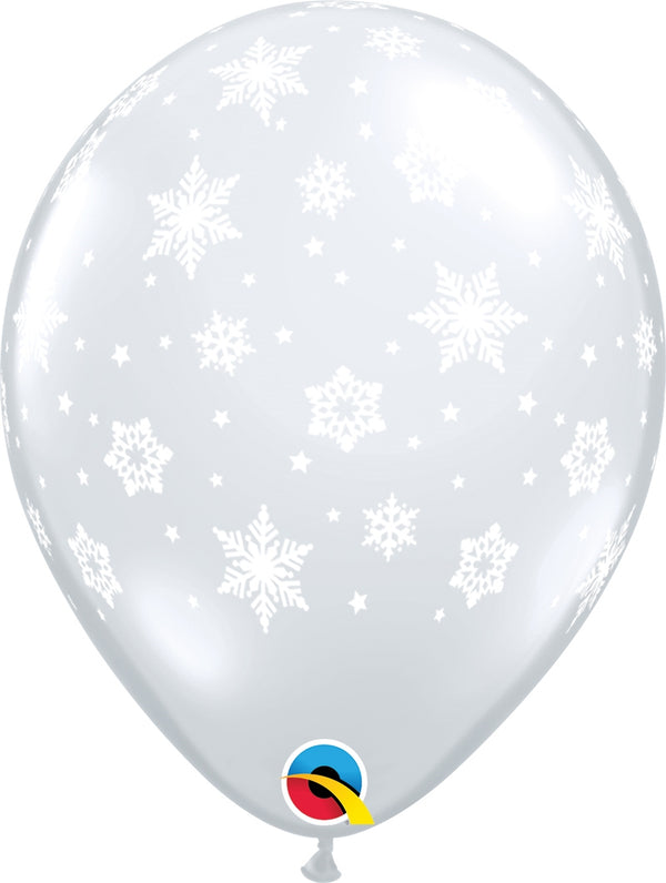 "11"" Snowflakes-A-Round Latex Balloons"
