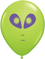 "5"" Lime Green Alien Latex Balloons"