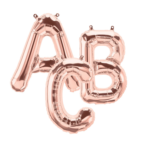Rose Gold Letter Balloons