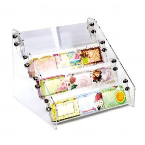 Counter Top Acrylic Enclosure Card Rack