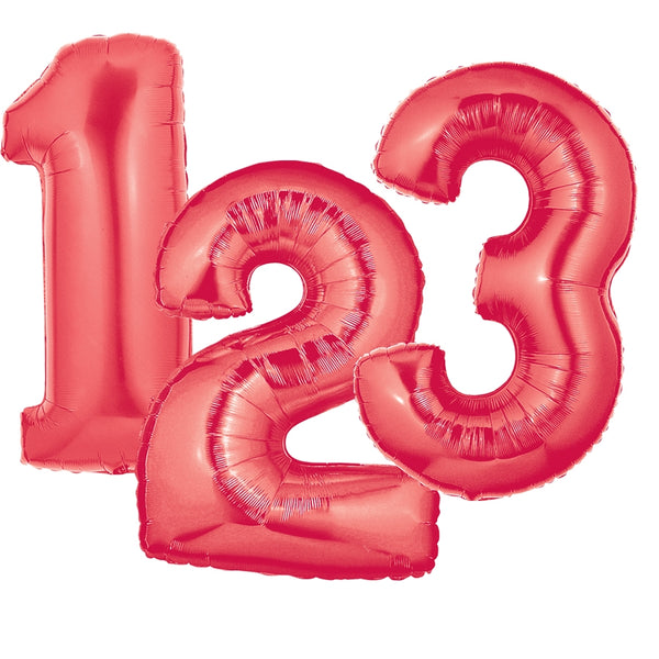 Red Number Balloons