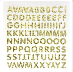 "1/2"" Alphabet Glitter Stickers"
