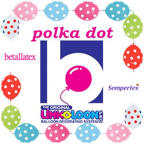 "12"" Betallatex Polka Dot Latex Link-O-Loons®"