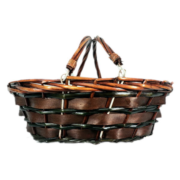 Brown & Green Willow Baskets
