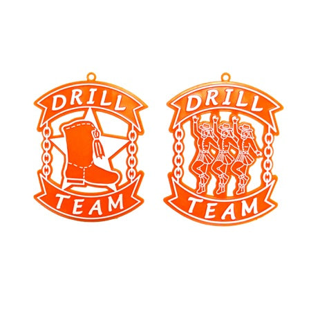Drill Team Duo Charm
