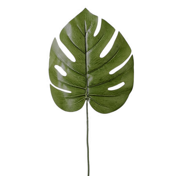 "7¾"" Dark Green Artificial Palm Monstera Leaf 12 ct."