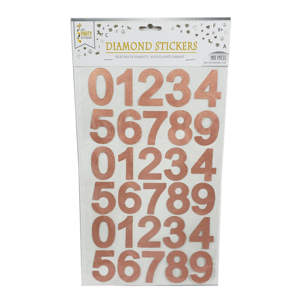 Diamond Number Stickers