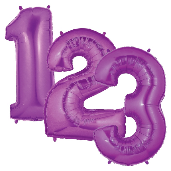 "40"" Purple Number Balloons"