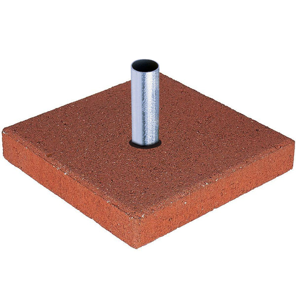 Red Concrete Base Plate