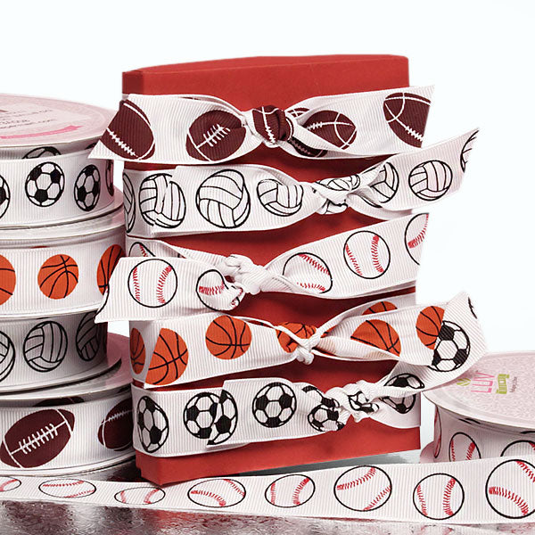 Sports Printed Grosgrain Ribbon