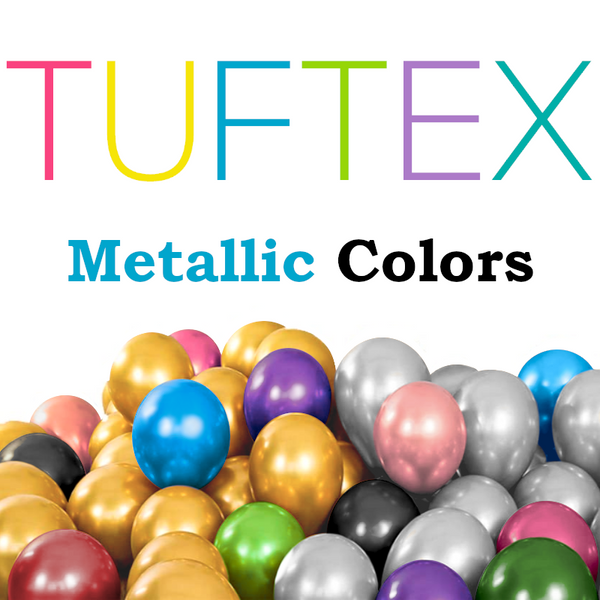 TUFTEX Metallic Latex Balloons