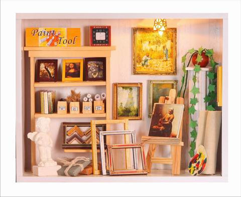 Doll house DIY Miniature Art Gallery 3D