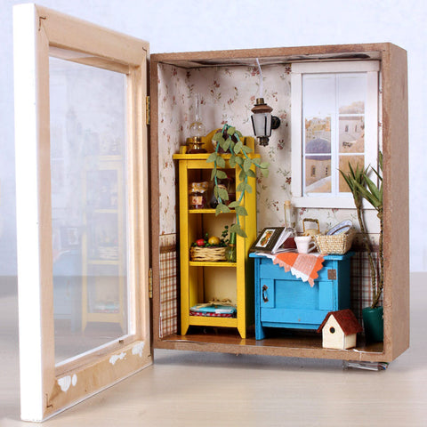 Doll House DIY Miniature  Warm Dawn Vacation 3D
