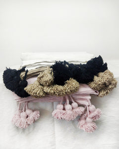 Pompom Blankets - 7 colors