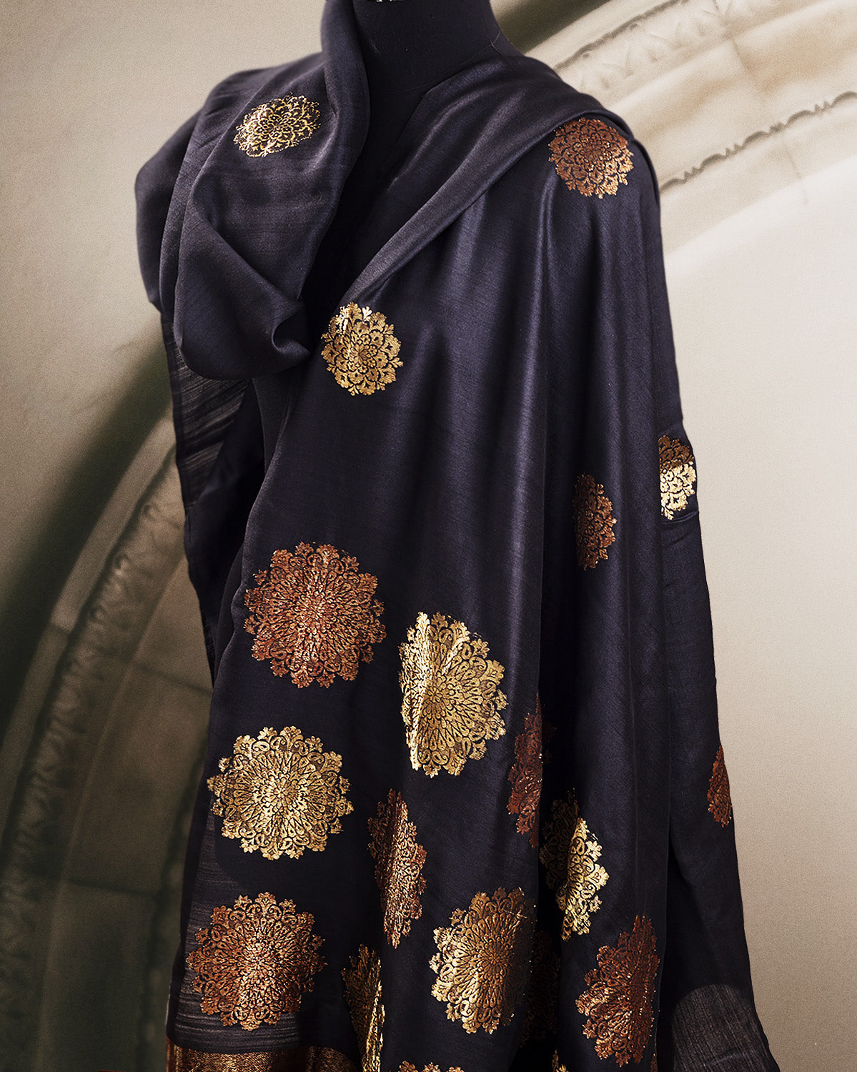 Amaya Black Silk Matka Saree