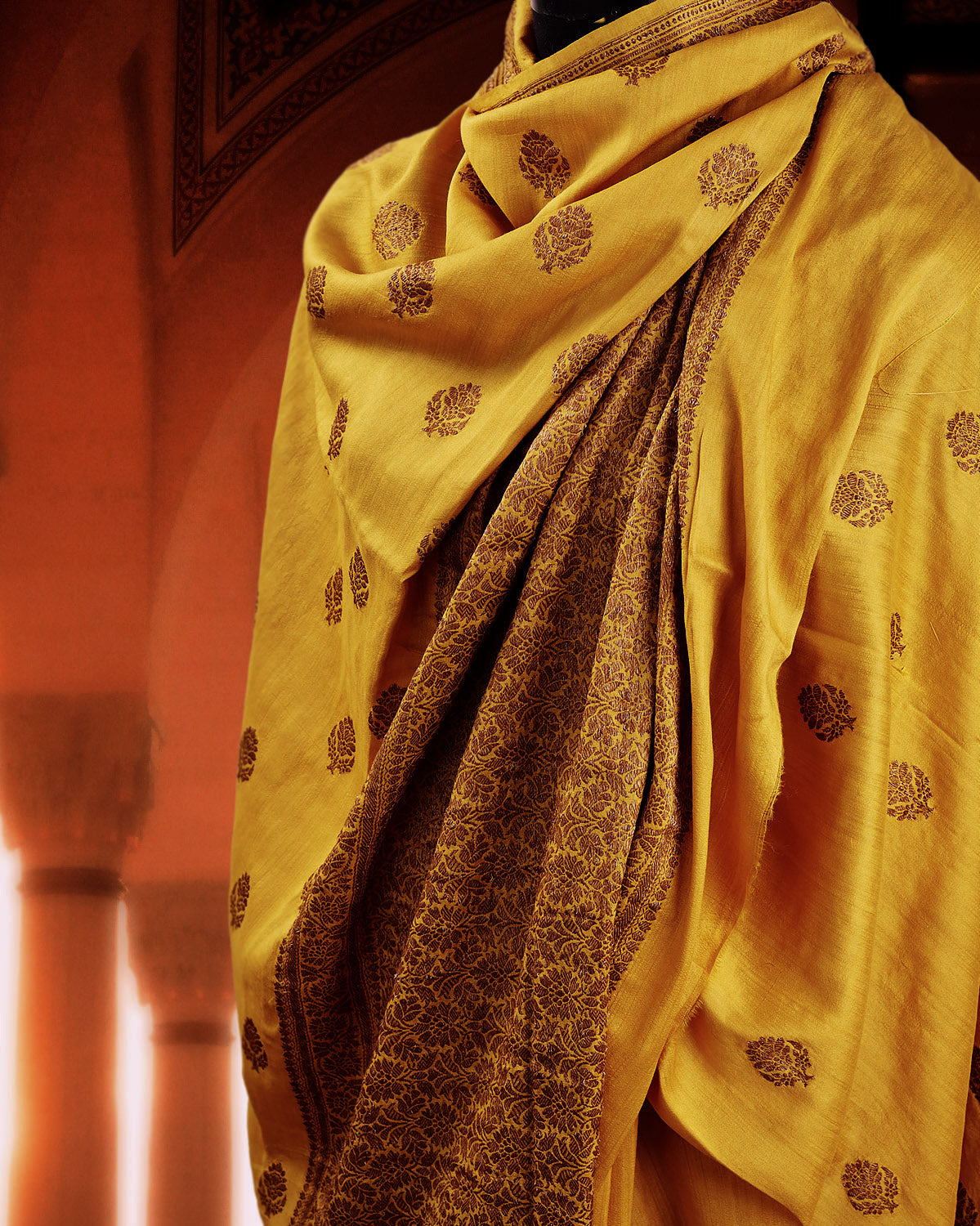 Ishani Yellow Silk Matka Saree