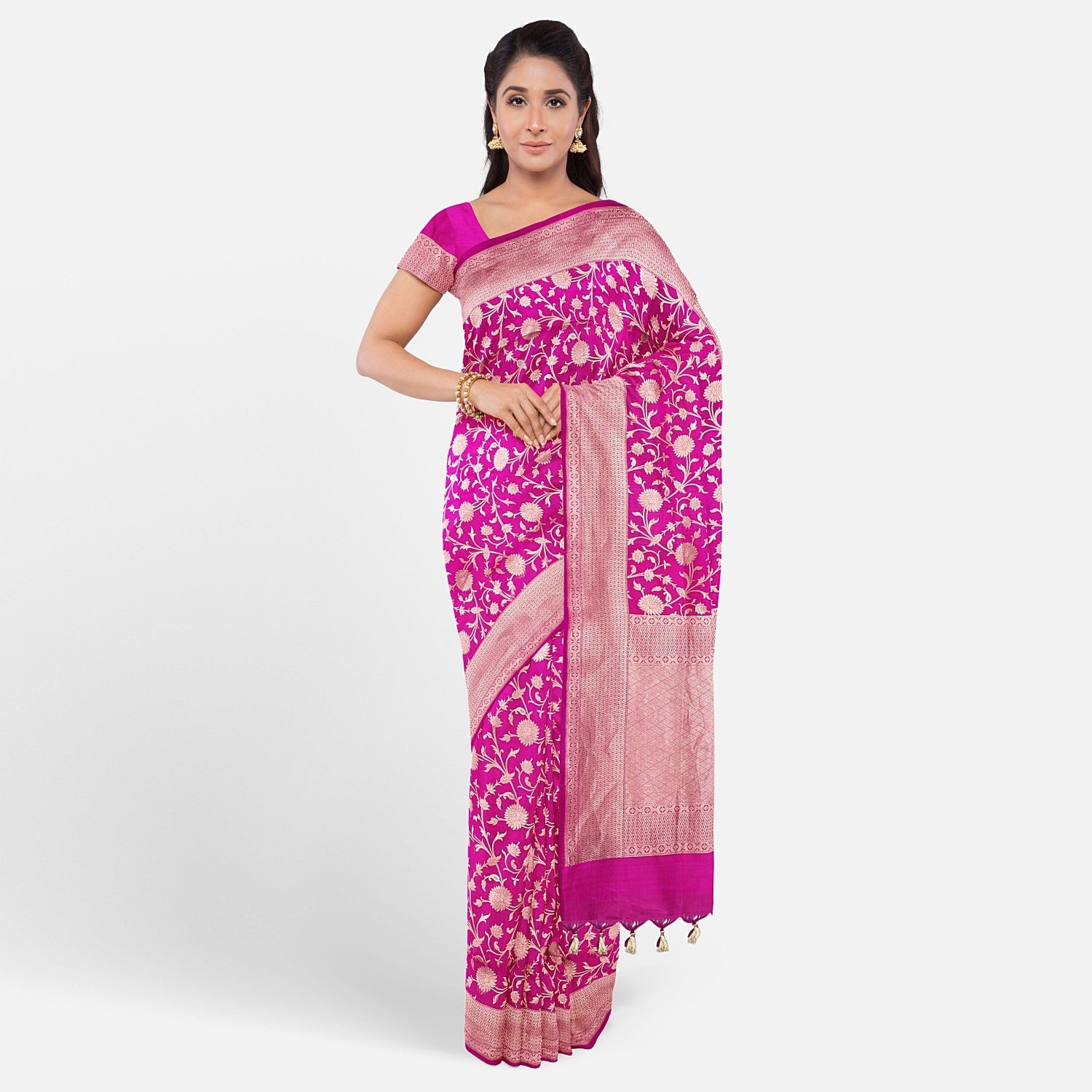 Magenta Purple Silk Saree