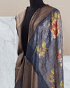 Waterlily Blue Tissue Saree