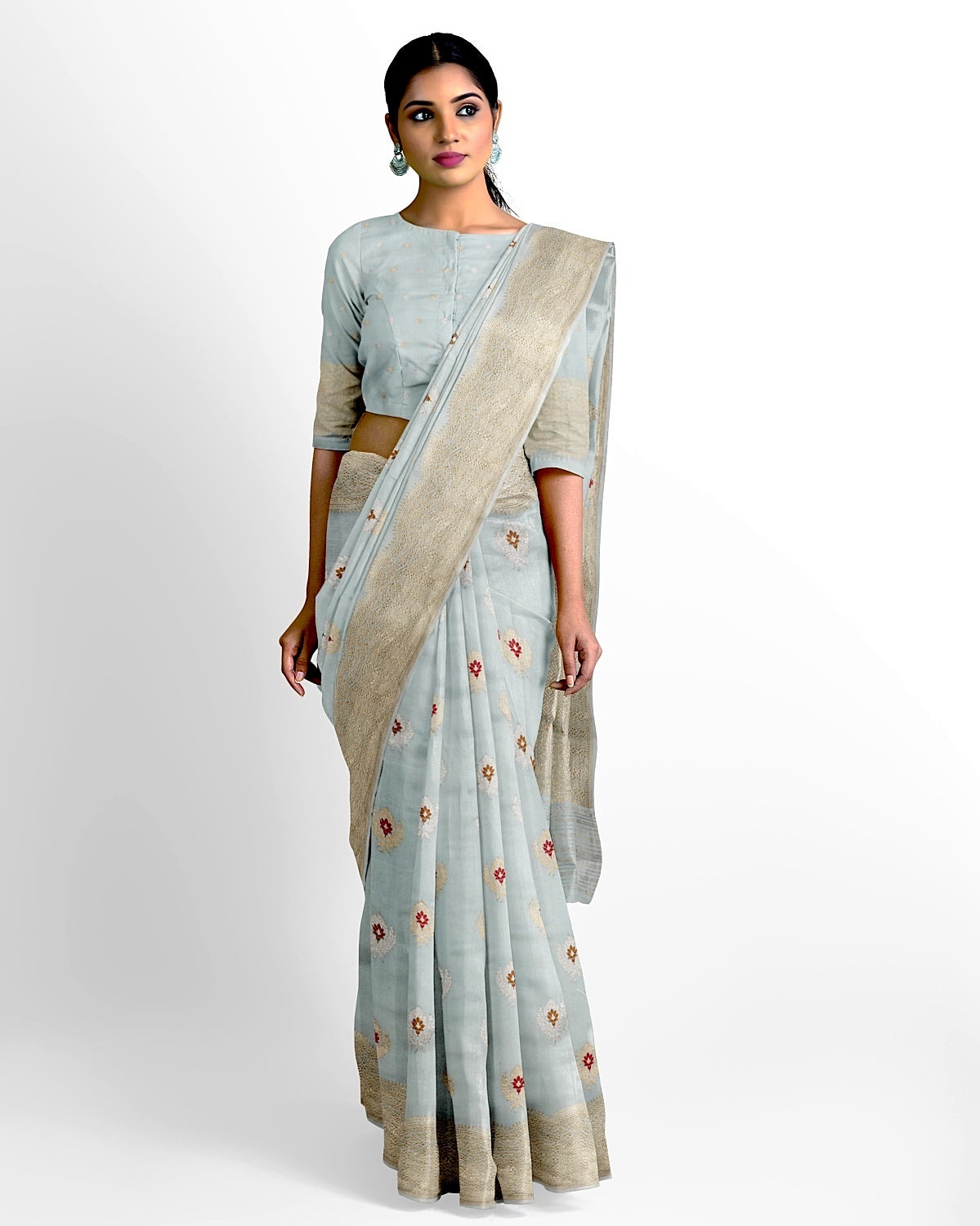 Sky Blue Soft Silk Saree