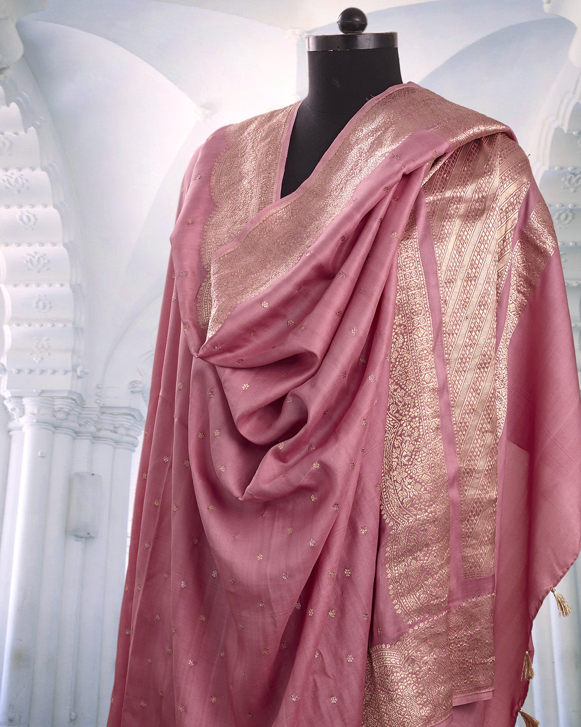 Mahira Pink Soft Silk Saree