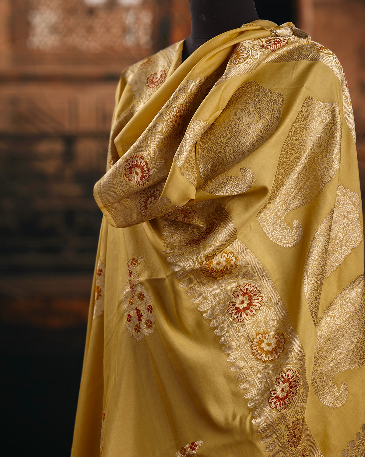 Amrapali Yellow Soft Silk Saree