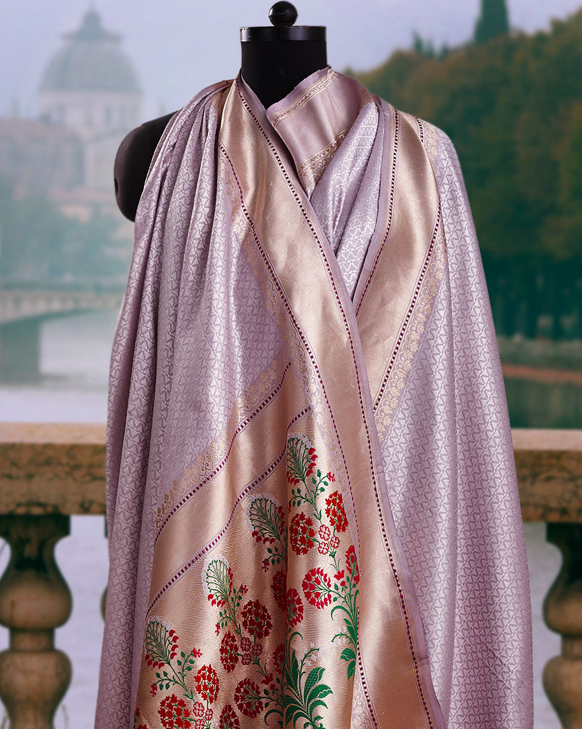 Lavanya Mauve Brocade Silk Saree