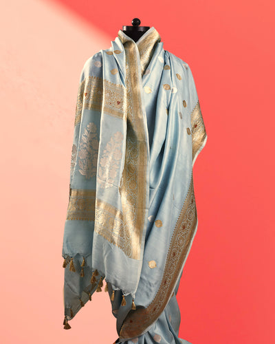 Shirin Aqua Soft Silk Saree