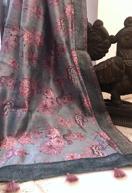 Secret Pond Ash Blue Dupatta
