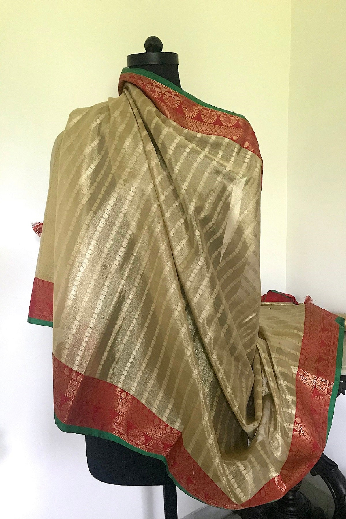 Antique Gold & Red Dupatta