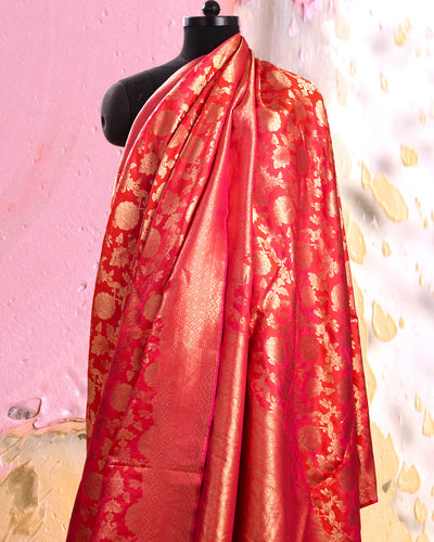 Athena Red Katan Silk Saree